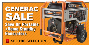 Generac Sale | Save On Portable + Home Standby Generators | See The Selection