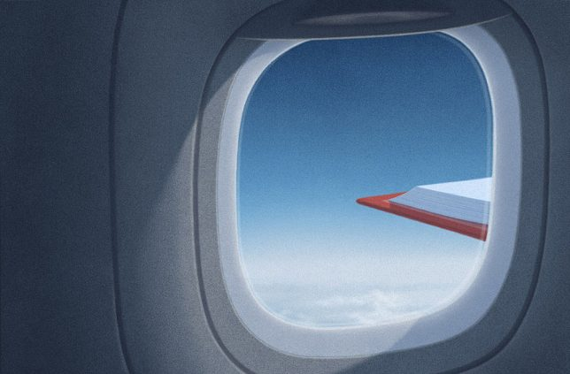 book plane wing