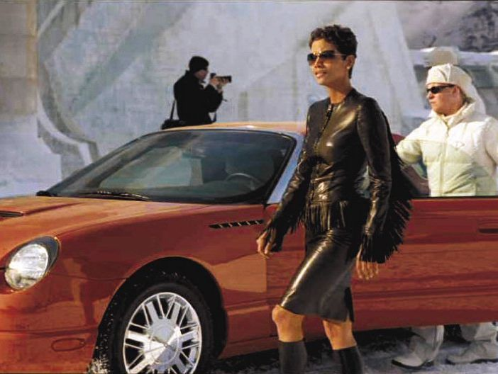 This coral Thunderbird is driven by Halle Berry's character Jinx in 'Die Another Day.'