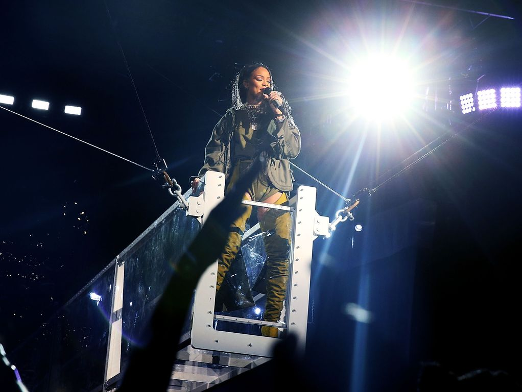 Rihanna performs at the Made in America Festival on Sept. 3, 2016, in Philadelphia.