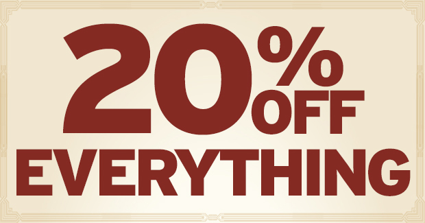 20% EVERYTHING