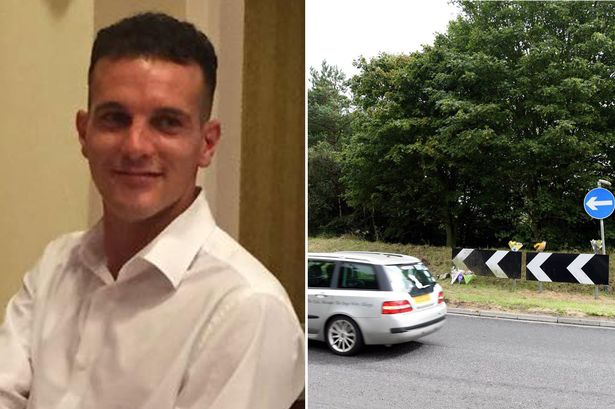 Young dad lay dead in his car for a week after crashing into roundabout