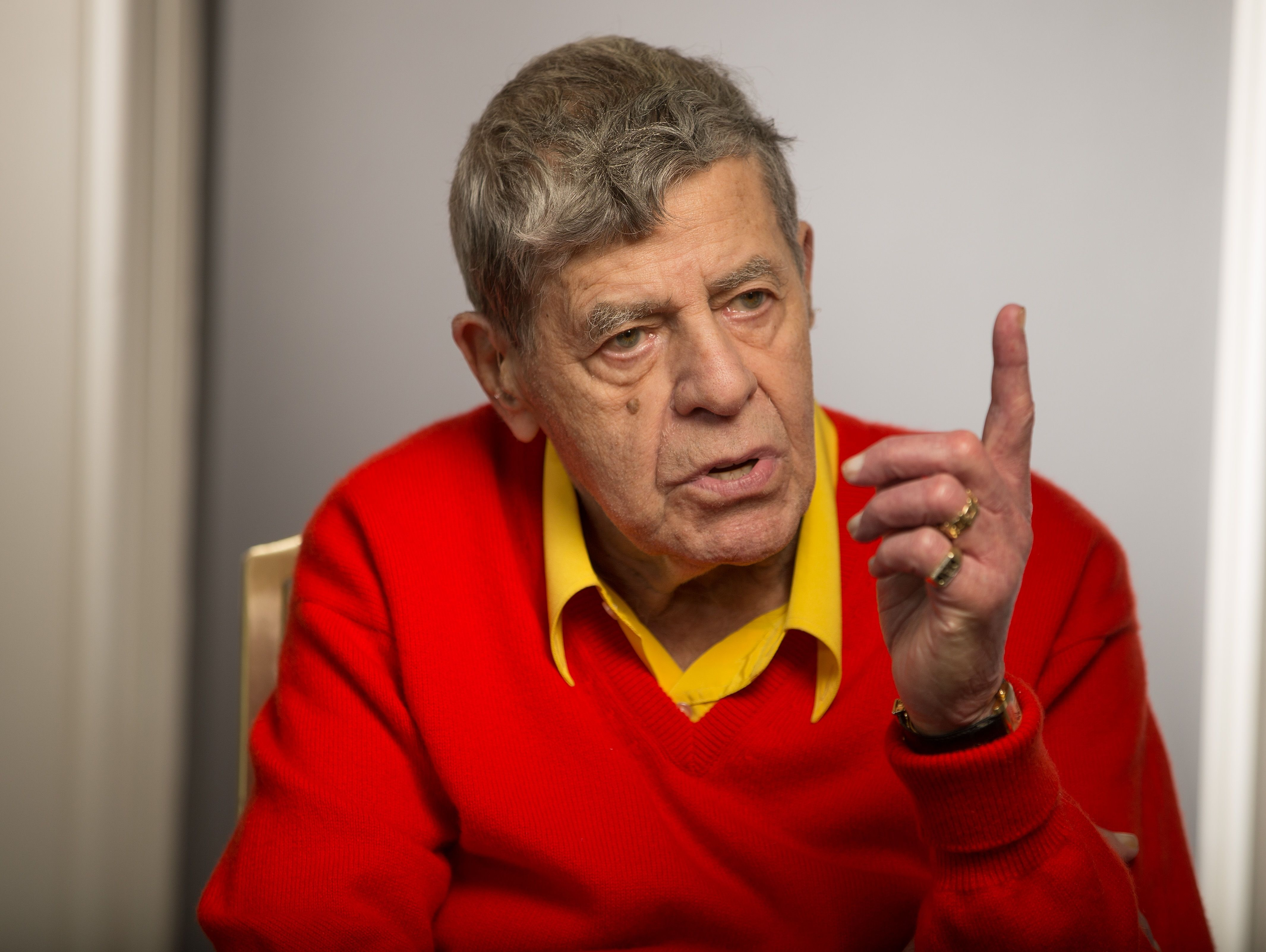 Jerry Lewis, at 90, is appearing in the long-delayed drama 'Max Rose.'