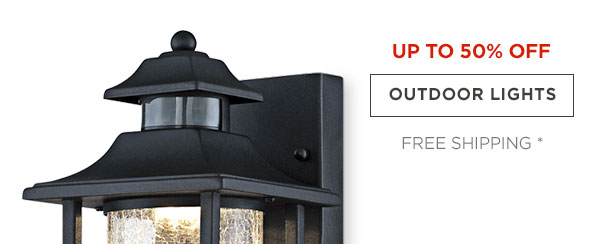 UP TP 50% OFF - OUTDOOR LIGHTS - FREE SHIPPING*