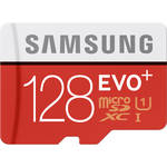 128GB EVO+ UHS-I microSDXC U1 Memory Card (Class 10) with Adapter