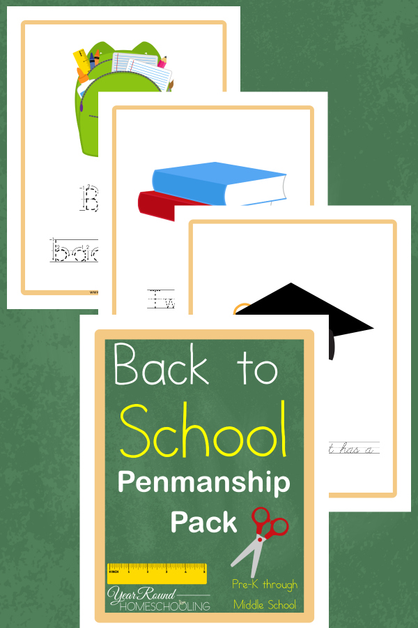 Free Back to School Penmanship Printable Pack