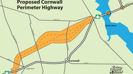 Cornwall bypass map