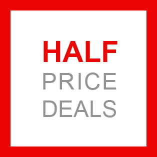 Selected half-price deals for you