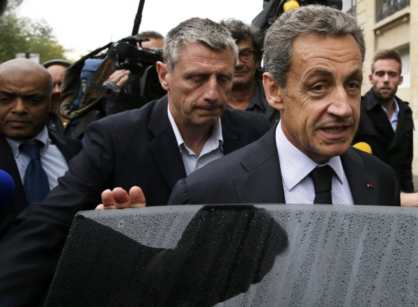 Nicolas Sarkozy, former head of the Les Republicans political party and former French President, leaves his campaign headquarters in Paris, France, September 5, 2016.   Reuters