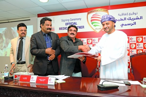 Oman Football Association is happy with Badr Al Samaa's significant contribution in 'boosting the medical infrastructure around organised football in the Sultanate'. Photo - Supplied