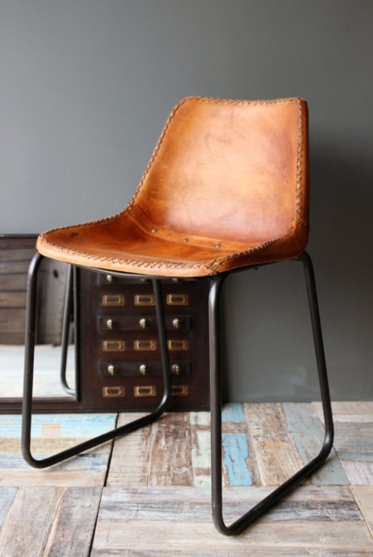 industrial leather chair brown from rockett st george