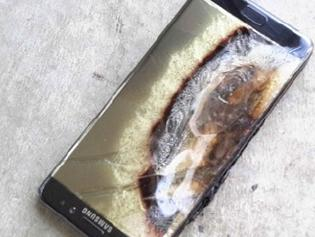 Exploded Note7 ruins hotel room