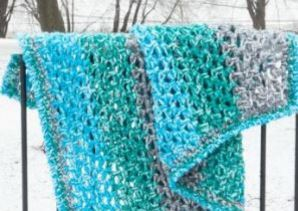 "Two-Night ""Shades of Blue"" Afghan"
