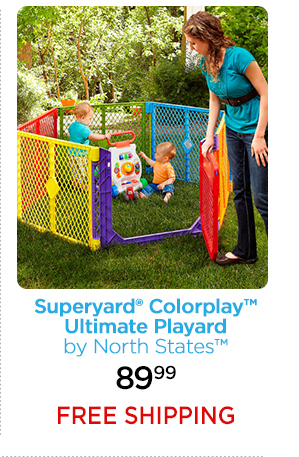 Superyard® Colorplay™ Ultimate Playard by North States™ 89.99 FREE SHIPPING