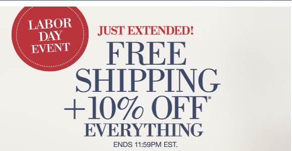 Labor Day Event |  sJust Exteneded! FREE SHIPPING +10% OFF everything Ends 11:59PM EST.