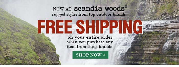 FREE SHIPPING on your entire order when you purchase any item from these brands.