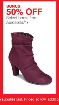 50% off select boots from 