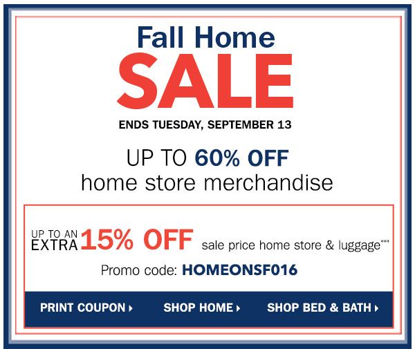 Fall home sale. Up to 60% 