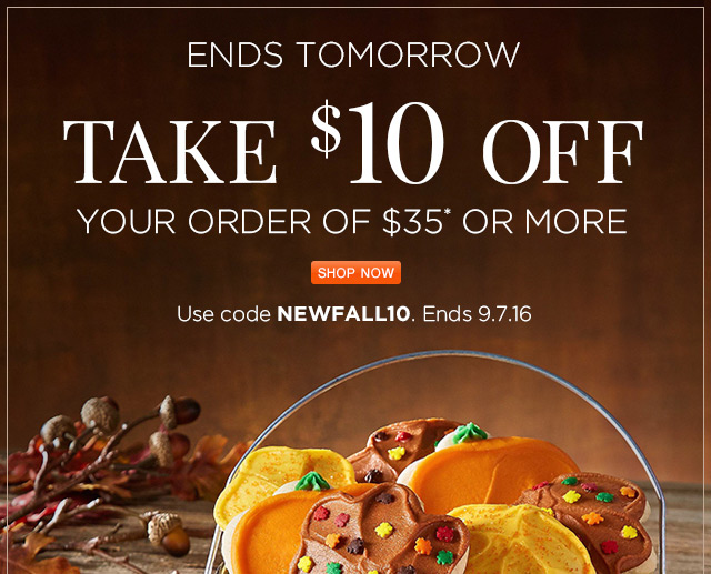Take $10 off your order of $35 or more