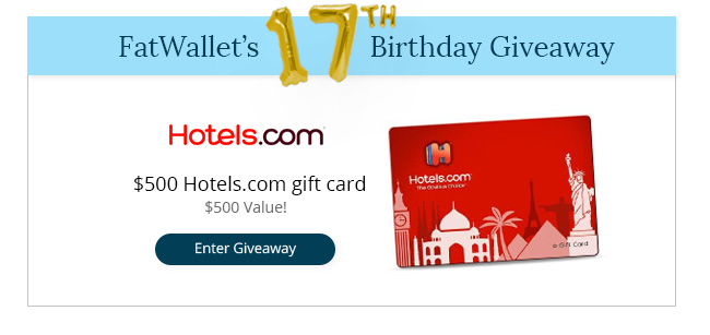 FatWallet's 17th Birthday Giveaway