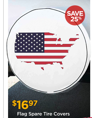 Flag Spare Tire Covers