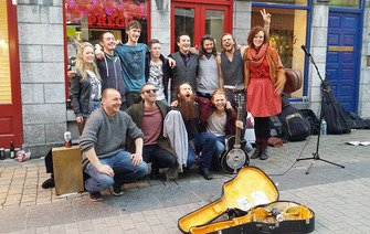 This Galway street band is racing their way toward fame