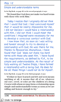 A page from R.A.'s Journal Of Recovery.